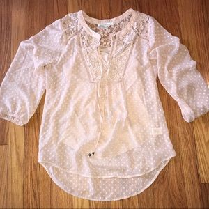 Soft Pink Long-sleeved Blouse